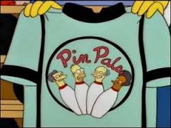 Simpsons Pin Pals shirt - storage and bowling