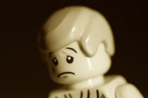 Unwanted Christmas Presents - Sad Lego Man