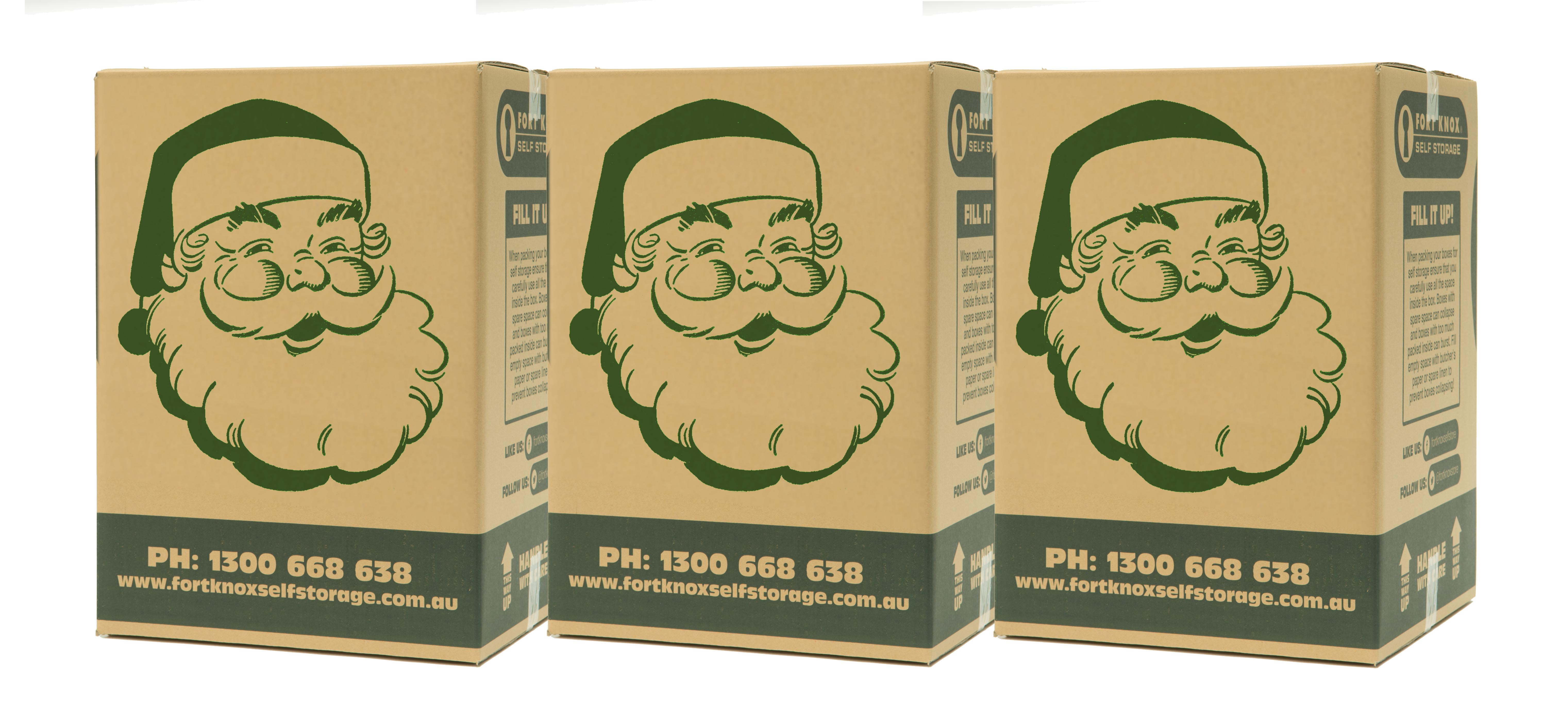 Fort Knox Boxes with Santa on them