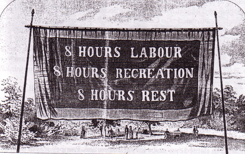 Eight hour day banner