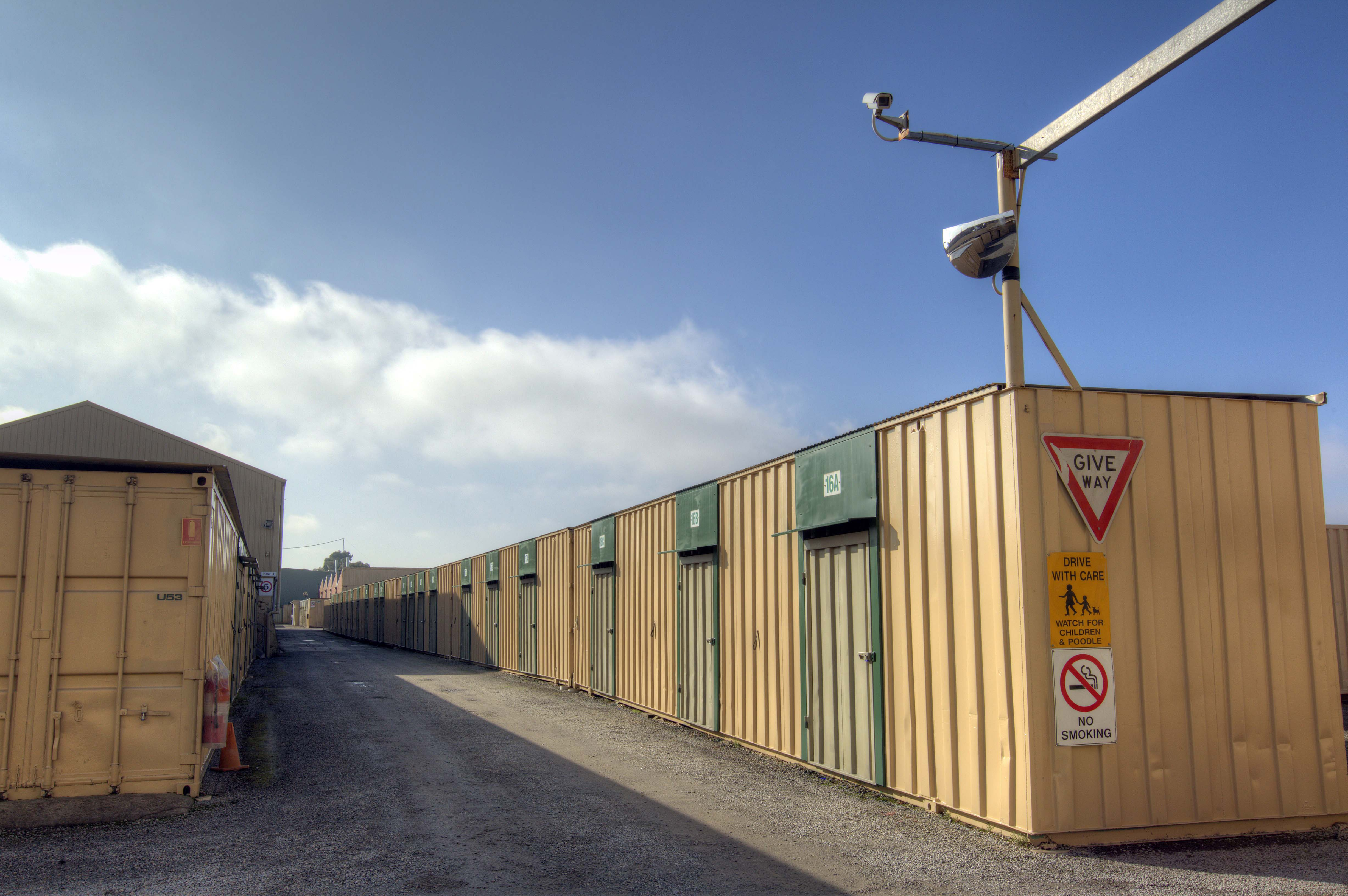 Large converted shipping containers were the original concept at the very start of Fort Knox Self Storage.