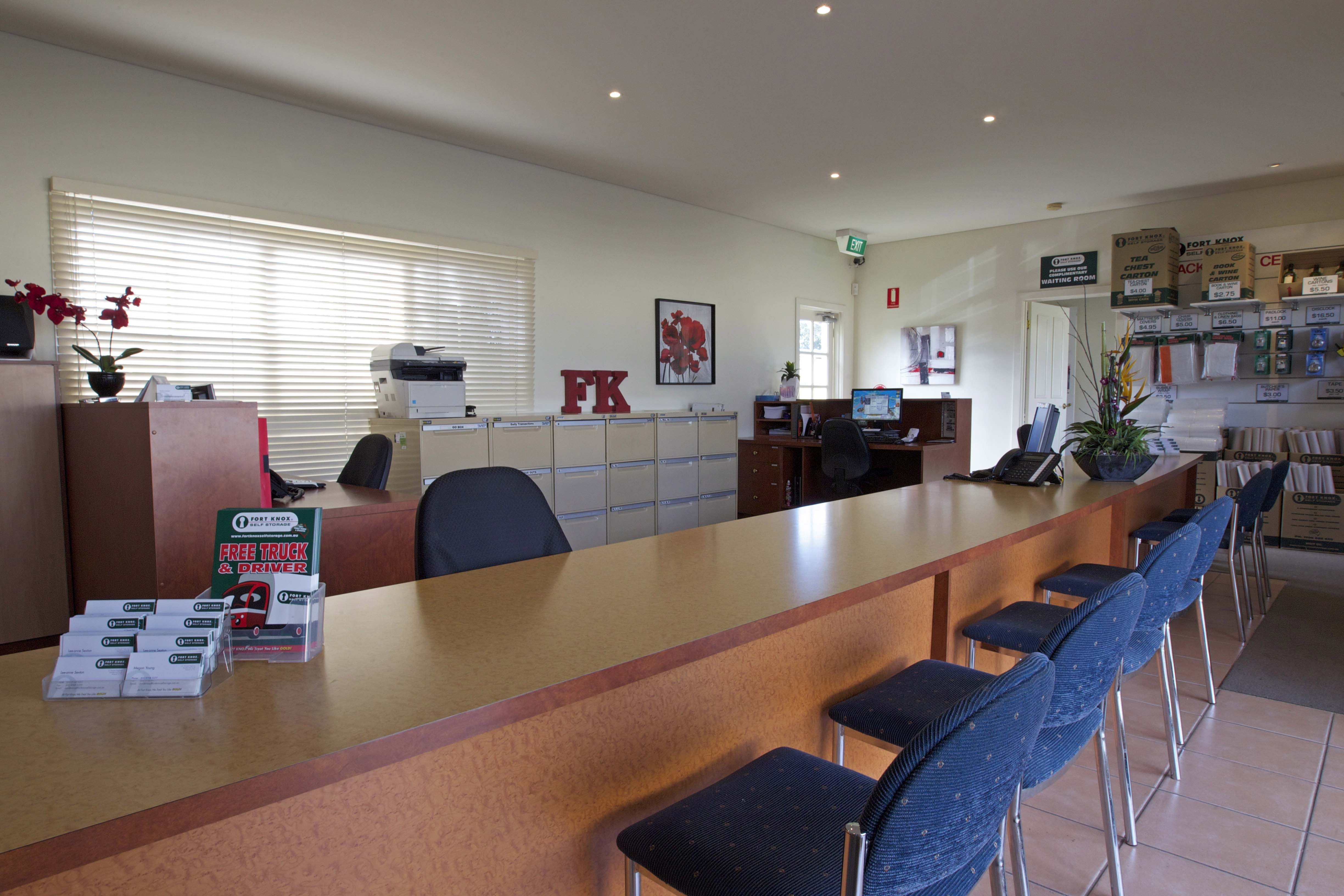 Dandenong self storage office