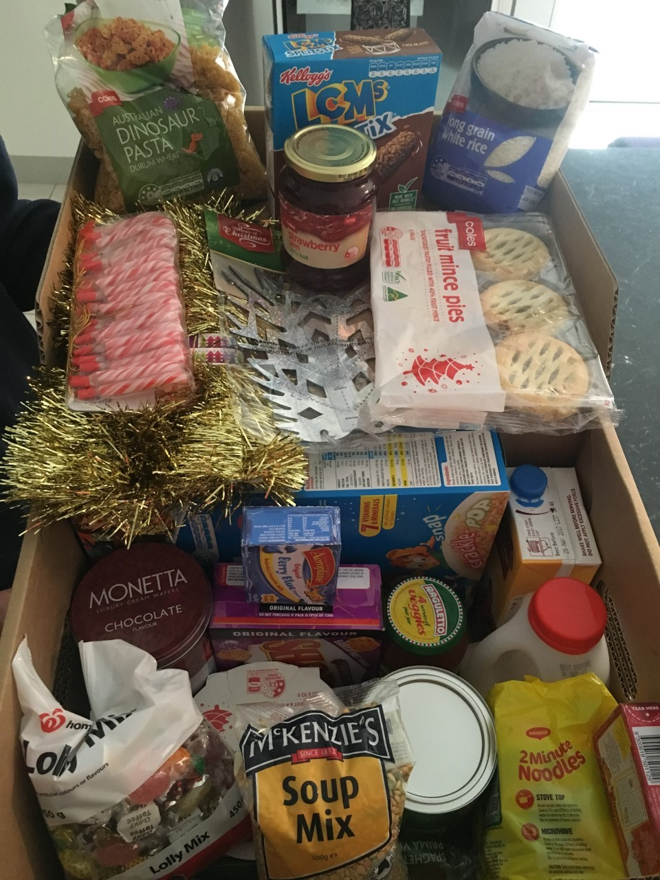 Judy Thompson Hug Society Hampers