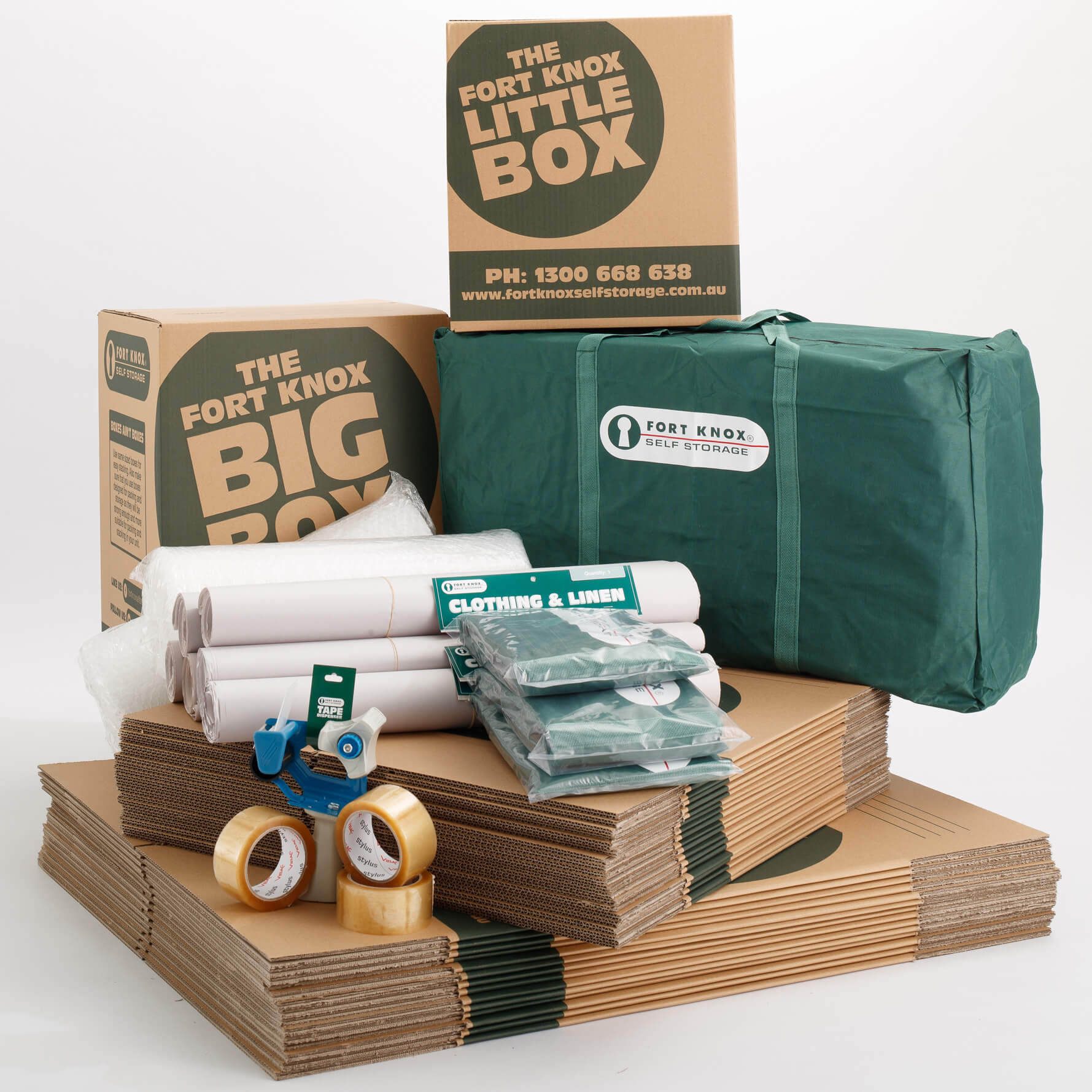 Discount bulk buy moving boxes and packing supplies for a medium size home, boxes, bags, butcher's paper, bubble wrap and tape