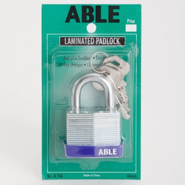 Able laminated anti pick padlock