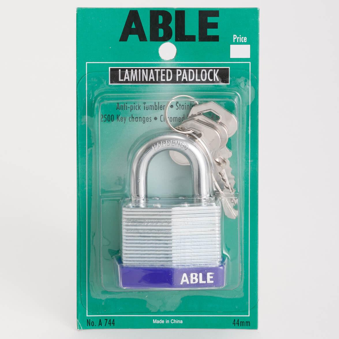 Able laminated anti pick padlock