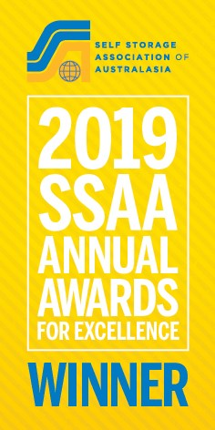 Self Storage Association of Australasia Awards For Excellence winner 2019