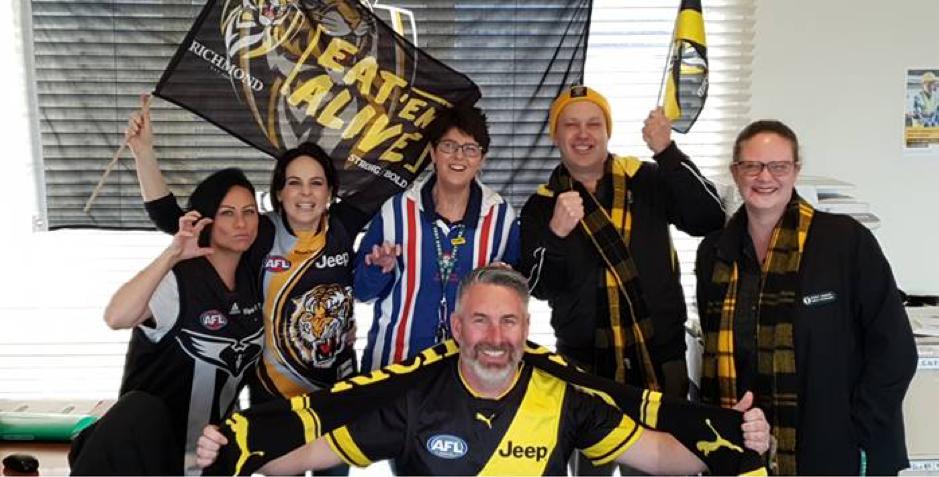Fort Knox Self Storage team enjoy AFL footy fever